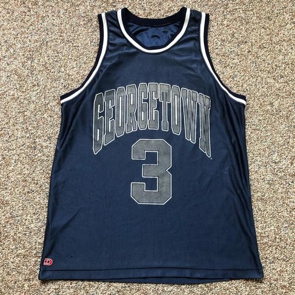 8cad13babb9 Shirts | Vintage Allen Iverson Georgetown Hoyas Jersey L | Poshmark